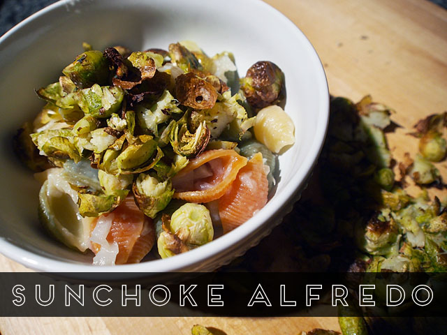 Healthy Sunchoke Alfredo Sauce Alternative