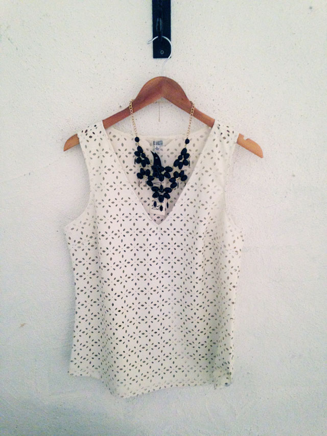 white perforated tank