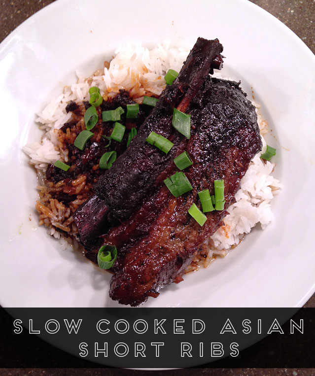 Slow cooked Asian short ribs recipe