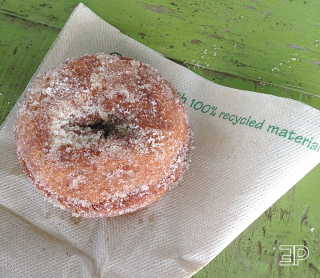 homemade apple cider doughnut from Bills Berry Farm in Yakima, WA - via The Emerald Palate