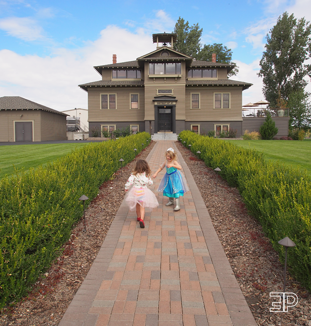 Lecole Winery in Walla Walla, WA. A converted schoolhouse with a swing set!. - via The Emerald Palate