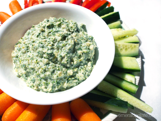The perfect Super Bowl party snack or appetizer: spinach artichoke dip! But surprise your guests with a low-fat skinny version that doesn't skimp on flavor. We use garbanzo beans and celery root puree as a thickener and then add roasted fennel for flavor. It's less greasy than your typical spinach artichoke dip, so you'll be able to leave room for those other party foods! Oh and did we mention it's easy thanks to a slow cooker?