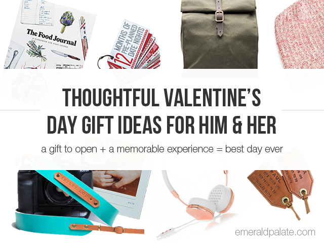 A list of the best, most thoughtful Valentine's Day gift ideas for both him and her. We've matched them with Valentine's Day crafts or experience gifts to really make it memorable. Let this be your best Valentine's Day yet! Via @emeraldpalate.