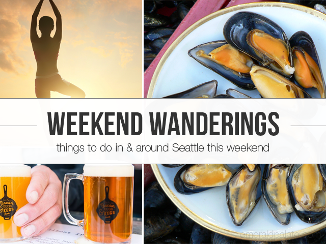 Shopping, yoga, and food events happening in the Seattle area this weekend, March 11-13.