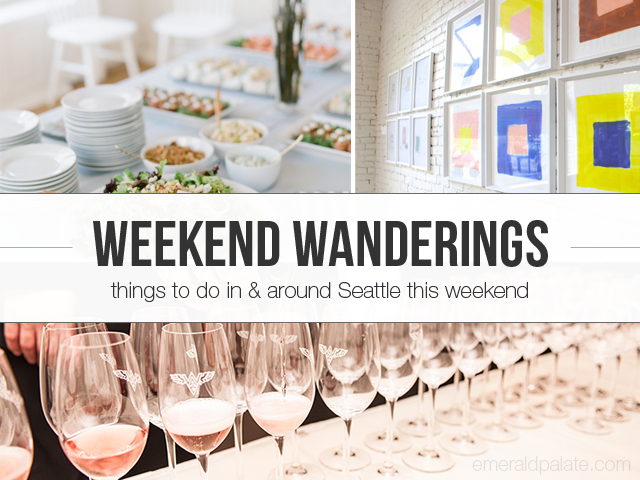 Weekend wanderings lists the best things happening in Seattle over the weekend. This week it's all about the Taste Washington food festival, a popup shop, and a craft fair's storefront opening.