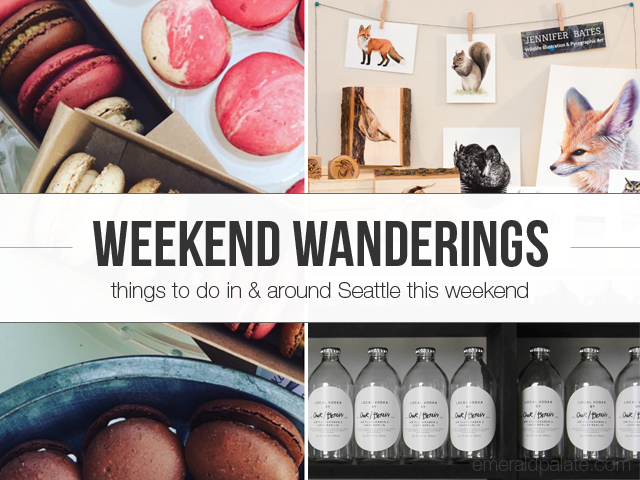 Shopping and sipping events in Seattle this weekend, April 15-17.