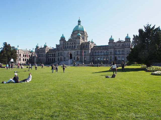 Parliament in Victoria, BC on a beautiful day. I love how people lounge on the quad when it's nice out. Makes it such an approachable building!