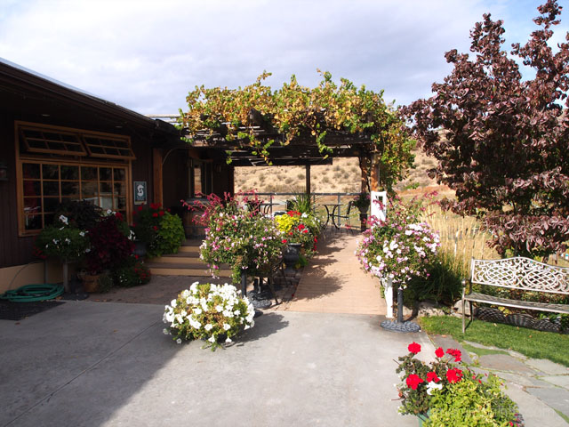 entrance to Hard Row to Hoe winery in Lake Chelan, WA. Such ambiance!