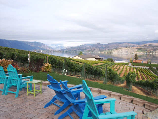 View from Nefarious Cellars winery in Lake Chelan, WA