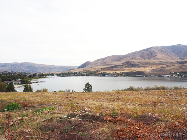 View of Lake Chelan, Washington from Vin de Luc Winery