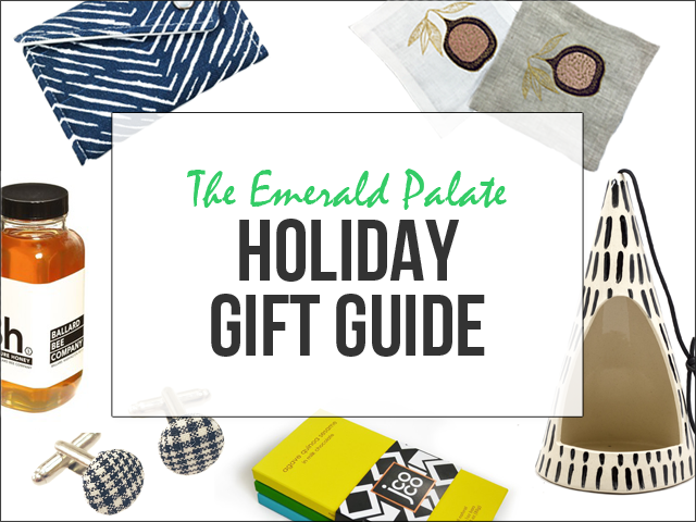 2016 holiday gift guide featuring gifts for mom, dad, boyfriend, husband, sister, brother, friend, boss, hostess and more. All items curated by The Emerald Palate and made in the Pacific Northwest!