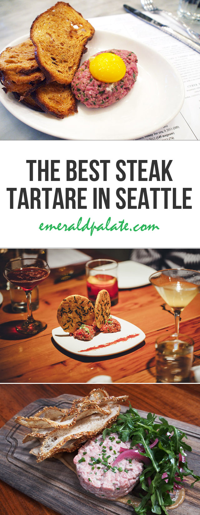 A roundup of where to find the best steak tartare in Seattle. If you love beef tartare like me, you must try all of these places. They are the best of the best in the Emerald City!