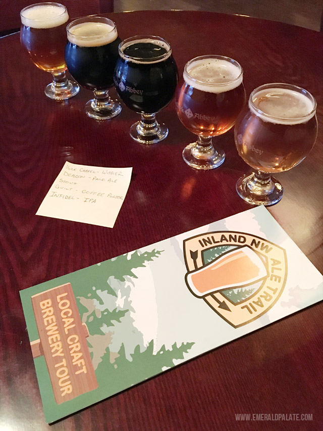 Eastern Washington and Idaho share the Idaho Beer Trail, which is made up of a ton of local breweries all within driving distance of each other.