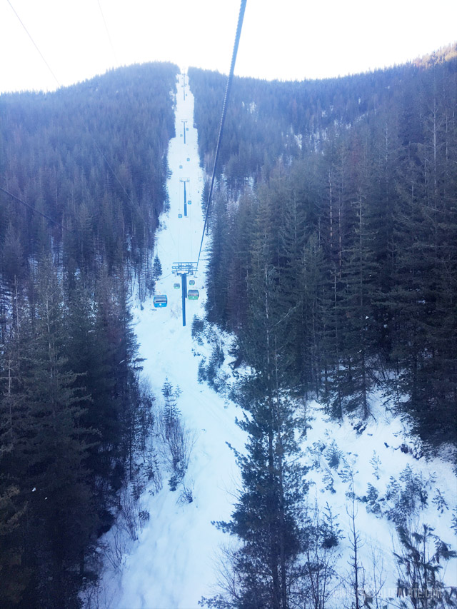 View from the chair lift at Silver Mountain Resorti n Idaho