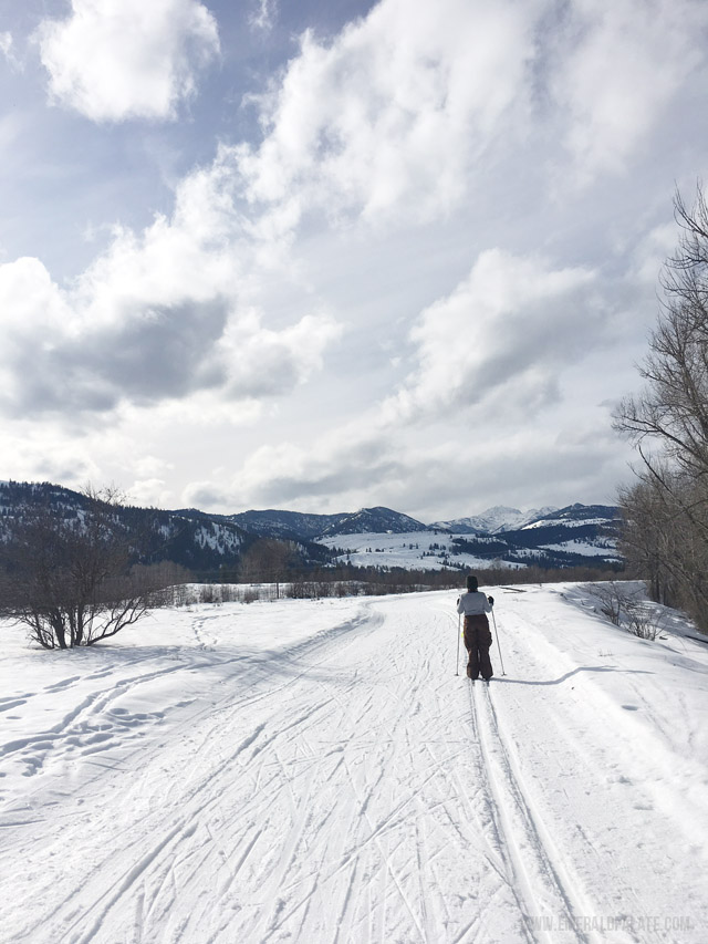 Winthrop, WA in the Methow Valley has the largest cross country skiing trails in the USA. There's trails for all levels so you can plan your perfect snowy winter getaway.