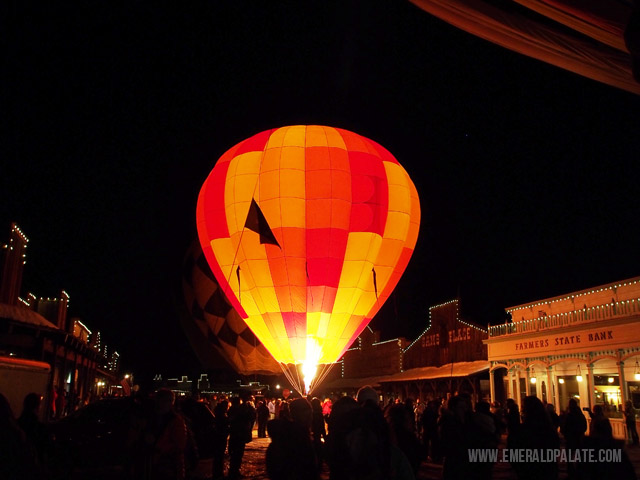 The Balloon Glow event at the Winthrop Air Balloon Festival was one of the coolest things I ever saw in my life. They light up the hot air balloons in the middle of the street and watch them aglow from the fire.