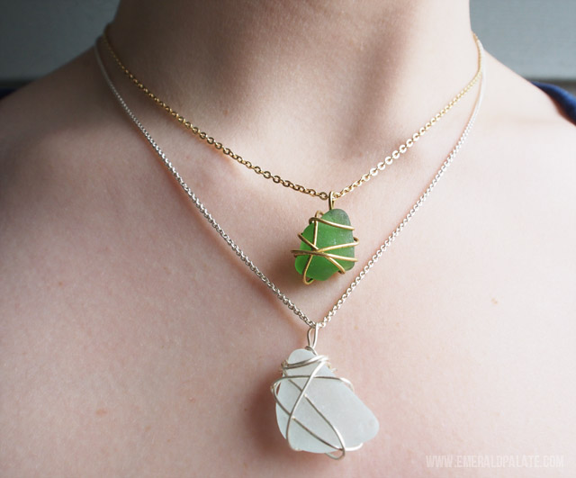 A preview of what easy DIY necklaces can look like. Tutorial on the blog!
