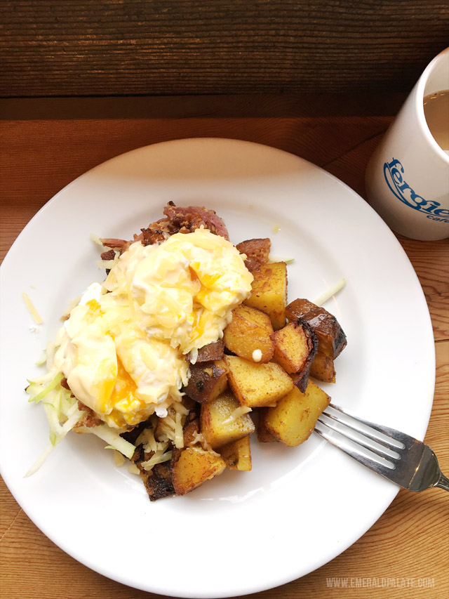 Fergie's is one of the best restaurants outside of Whistler, BC. Get the dubliner benny!