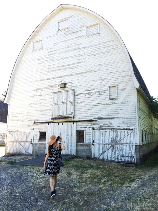 Barn at Billy Frank Jr. Nisqually Wildlife Refuge.