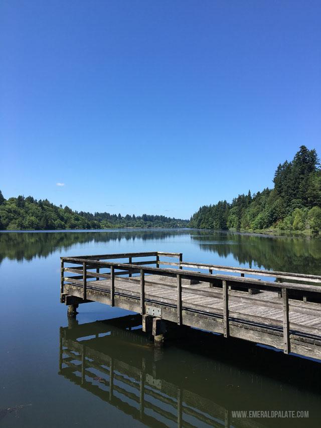 View of Capitol Lake in Olympia WA