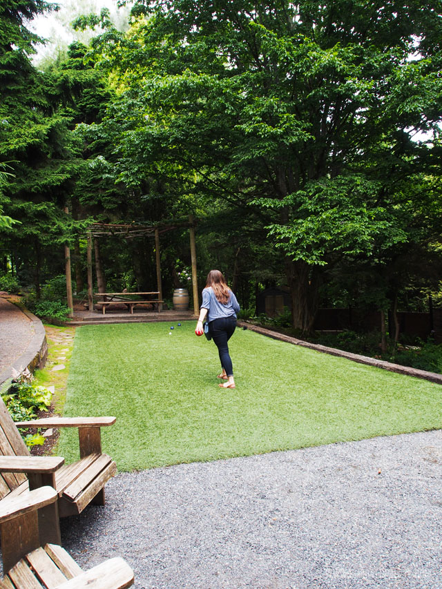 JM Cellars in Woodinville, WA has bocce ball. One of the many reasons its one of the best Woodinville wineries.