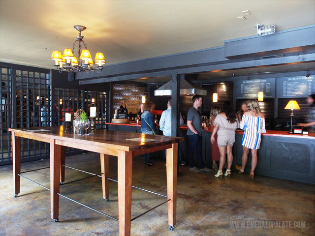 The tasting room of JM Cellars, one of the best Woodinville wineries near Seattle.