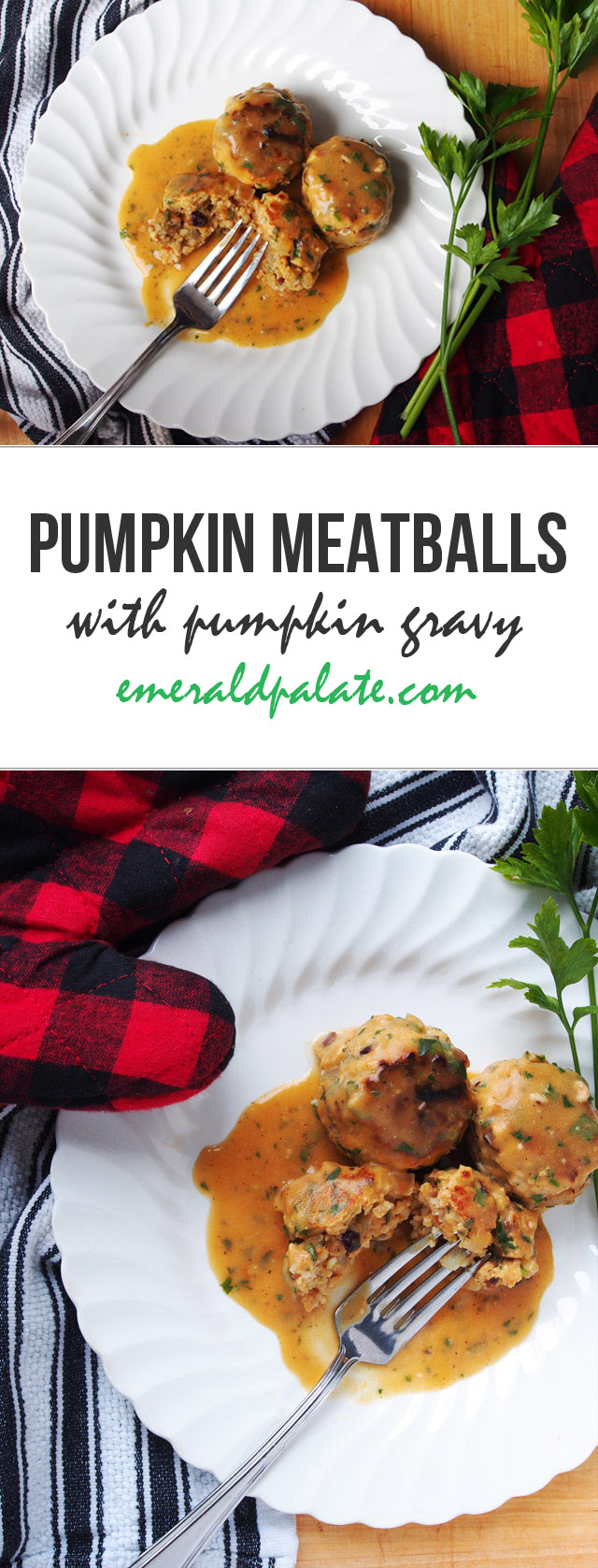 Looking for a pumpkin recipe? Try these easy pumpkin meatballs and pumpkin gravy. It tastes like fall!