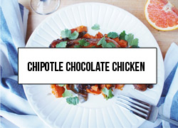 Link to a healthy and easy one-pan recipe perfect for Valentines Day. It includes chipotle, cocoa, sweet potatoes, and cilantro.