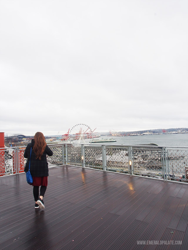 View from the pier at Pike Place Market in Seattle.